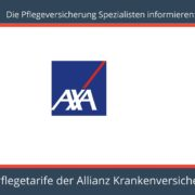 Die Pflegeversicherung Spezialisten informieren - Pflegeversicherung Axa Krankenversicherung