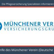 Die Pflegeversicherung Spezialisten informieren - Pflegeversicherung Münchener Verein Tarif Deutsche Privatpflege