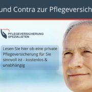 Private Pflegeversicherung pro und contra - Die Pflegeversicherung Spezialistren informieren