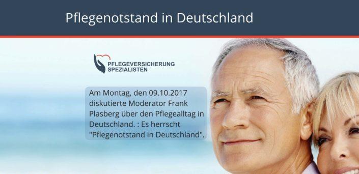 Die Pflegeversicherung Spezialisten informieren : Pflegenotstand in Deutschland