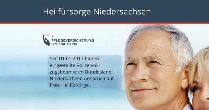 Die Pflegeversicherung Spezialisten informieren : Heilfürsorge Niedersachsen