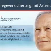 Wie kann ich ich eine Pflegeversicherung mit Arteriosklerose abschließen!